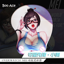 Anime Over Watch Mei Big Breast 3D Mouse Pad silica gel Wrist Rest