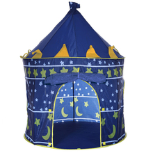 Castle 2 Colors Play Tent Portable Foldable Tipi Prince Folding Tent Children Boy Cubby Play House Kids Gifts Outdoor Toy Tents