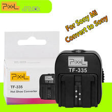 Pixel TF-335 Flash HotShoe Adaptor Converter With PC Port Suit For Sony DSLR Cameras MI Convert to Normal Sony Hot shoe