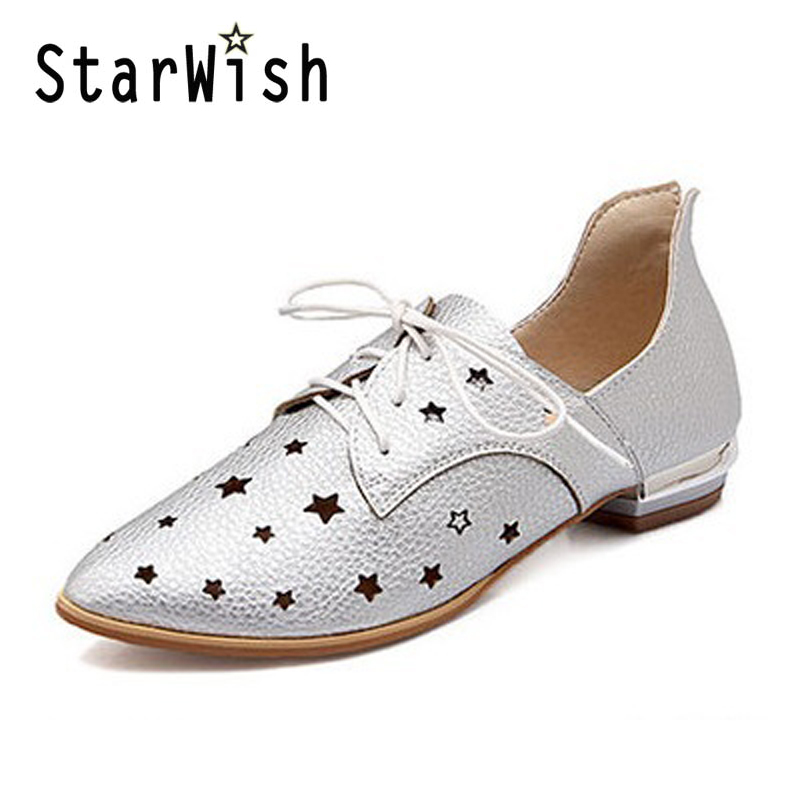 Women Casual Flat Shoes Summer Cut-Outs Sandals Ladies Pointed Toe Shoes Woman Lace-Up Oxfords For Woman Plus SIze 34-48 Flats<br><br>Aliexpress