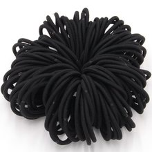 100pcs/lot NEW Rope Elastic Hair Ties 4mm Thick Hairbands Girl's Hair Bands,Hair Accessories, Headwear