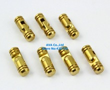 10 PIECES HIDDEN HINGE INVISIBLE HINGE BARREL CONCEALED HINGE 5x15mm / BRASS(China)