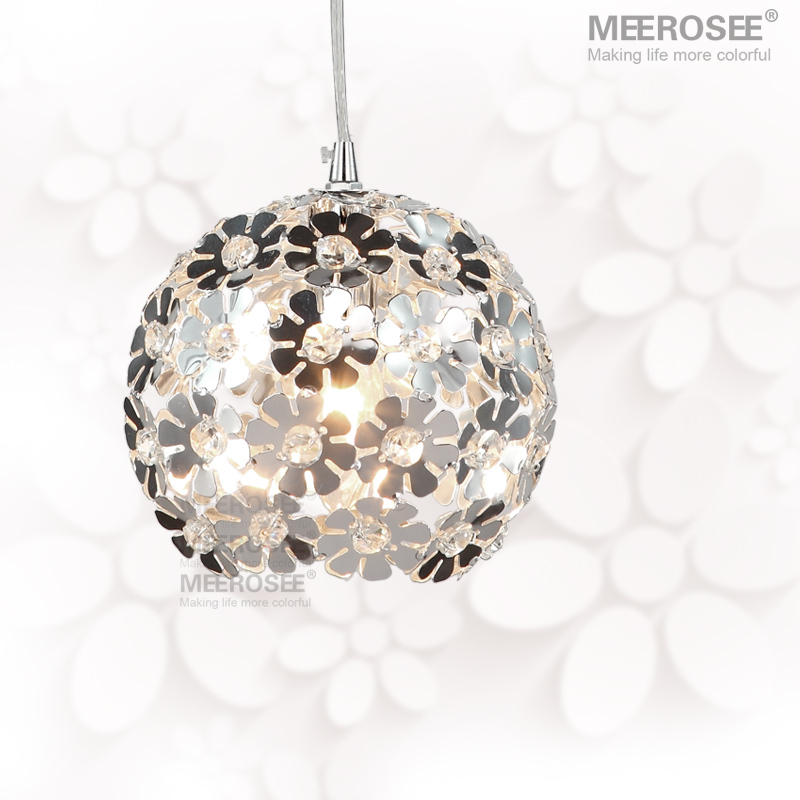 Beautiful Silver Flower Crystal pendant lights Fixtures Aluminum Hanging Pendant Lamp Crystal Light for Dining Bedroom MD88035<br>