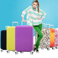 Travel Cover Case Elastic Luggage Protective Covers Stretch Fashion Suitcase Covers Apply to 18-32 inch Case,Travel Accessories(China)