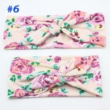 Floral Mommy and Me Headband Set Jersey Knit Little Girl Head Wrap Photo Prop Gift for Mom and Baby Retail HB219
