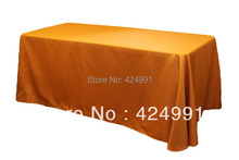 5pcs Burnt Orange Rectangle Table Cloth 155x320cm  ,Polyester Plain Table cloth For Weddings Event &Hotel&Banquet Decoration