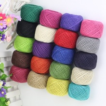 Jute Twine 50Meter 2mm Natural Rustic DIY Tags Wrap Wedding Decoration Crafts Twisted Rope String Cord Events Party Supplies