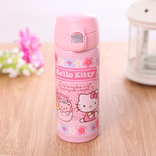 2017 creative Doraemon cat warm cup stainless steel children's bounce straight drink thermos Hello Kitty KT cup Vacuum Flasks