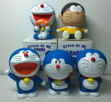 5pcs/lot Action Figure Doraemon 10 cm Automotive Decoration PVC Dolls Catoon anime Kids cute Toys gifts Collectible Model(China)