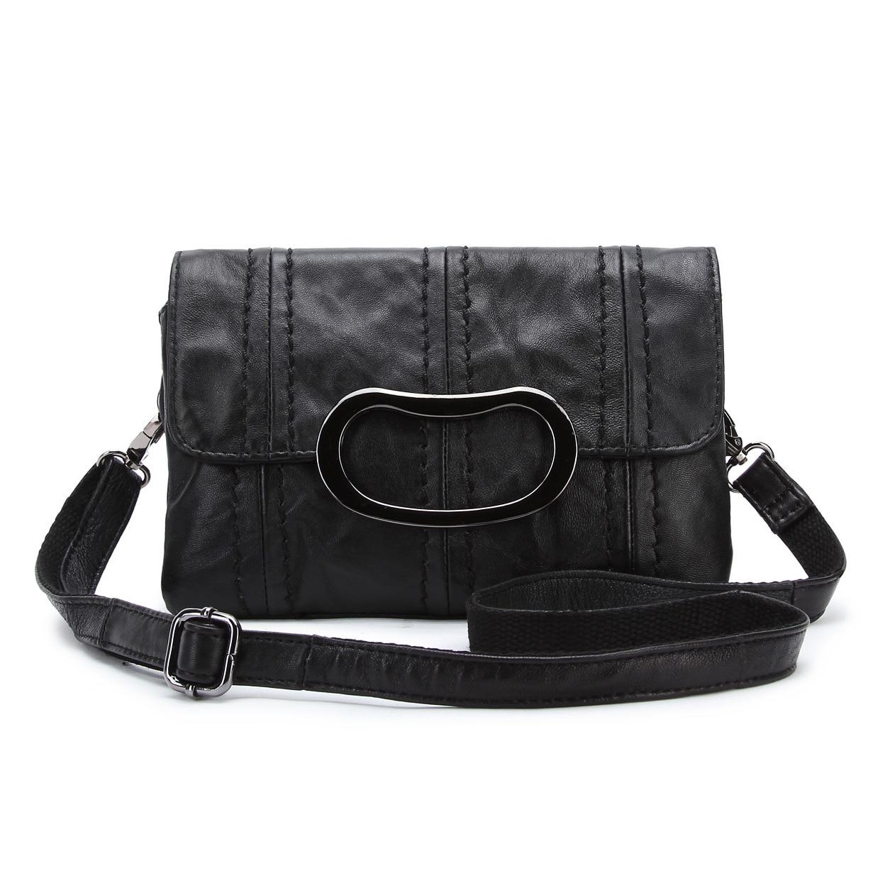 Fashion Genuine Women Bags Handbags Metal Handle Famous Brand Designer Envelope Bag Sheepskin Shoulder Bag Lady Crossbody Bags<br><br>Aliexpress