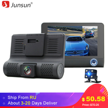 "Buy Junsun Car DVR Camera 4.0"" IPS Dual Lens Dash Cam FHD 1080P Rear view Auto Registrator Digital Video Recorder Camcorder for $49.88 in AliExpress store"