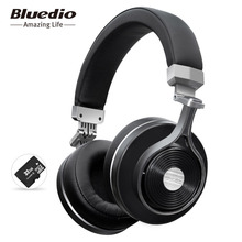 Bluedio T3+/T3 plus Bluetooth headphone deep bass wireless headset with sd/memory card slot metal material black
