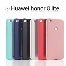 Huawei Honor 8 lite Ultra-thin Clear TPU and Matte Solid color Case For Huawei Honor8 lite Back Cover Protect Skin Silicon case
