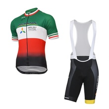 2017 team astana italy champion falg cycling jersey Bicycle maillot MTB Racing ropa Ciclismo Short sleeve bike clothing GEL