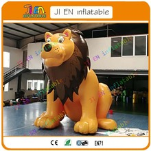 10 days free shipping 5m/16.5ft giant inflatable lion giant inflatable lion animal model cartoon for zoon advertising