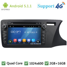 "QuadCore 8"" HD 1024*600 Android 5.1.1 Car DVD Player Radio Screen DAB+ 3G/4G WIFI GPS Map For Honda City Right Hand Driving 2014(China)"