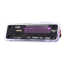M01BT Mini MP3 Decoder Board Bluetooth Hands-free Call Remote Control Power Cut Memory Function Support MP3 / WMA / APE / WAV(China)