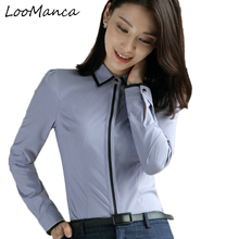 Buy New 2018 fashion OL blusa elegant women clothing new long sleeve shirt Formal blouse plus size office ladies chiffon tops for $14.75 in AliExpress store