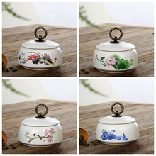 mini tea storage chests 9*6cm ceramic sugar nut coffee beans collecting box case