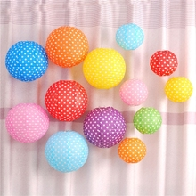 Mixed size 20/25cm Chinese Round Dot Paper Lantern Festival Wedding Party Decoration Lampion Ball Baby shower Lanterns