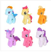 25cm multicolour polly plush Unicorn doll Children Soft Toys My little horse Polly Baby Toys Stuffed Plush Doll