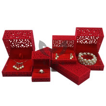 2014 New Arrival 5pcs/set Red Velvet Jewelry Gift box ,Ring/Earring/Pendant/Necklace/Bracelet Jewelry Packaging And Display