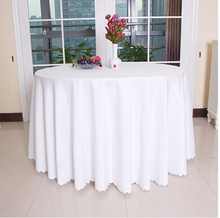 Big Size Polyester  Round Rectangular 100% Polyester Table Cover Wedding Tablecloth Party Table Cover Dining Table Linen