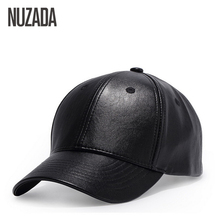 Brands NUZADA Cap Men Women Hip Hop Hats Classic Solid Color Baseball Caps Quality PU Leather Snapback Europe USA Summer Gorras - Store store