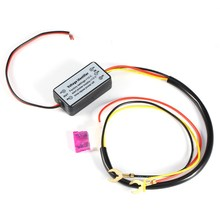 Car Styling DRL Controller Auto Car LED Daytime Running Light Relay Harness Dimmer On/Off 12-18V Fog Light Controller Carro(China)