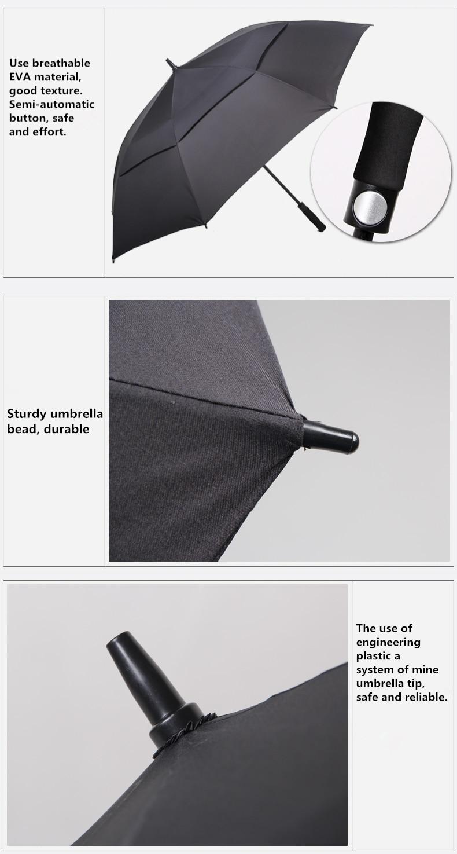 NX Creative Large double layer golf umbrella 145cm to 150cm umbrella men windproof strong long umbrellas for men business (7)