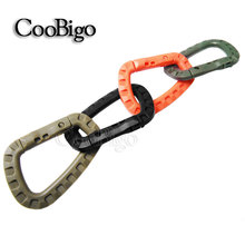 Plastic Climbing Carabiner 4 Colors D-Ring Key Chain Clip Hook Camping Buckle Snap Hook for Travel EDC Tool Kits #FLC127(Mix-s)