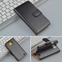 Crazy Horse pattern leather Wallet Case For Samsung Galaxy S2 SII i9100 GT-i9100 cover with Stand Function 4 Colors