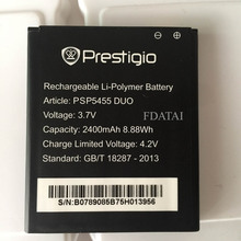 100% Original Li-ION Longevity Rechargeable 3.7V 2400mAh PSP5455 Battery For Prestigio PSP5455 PSP 5455 Bateria Smartphone