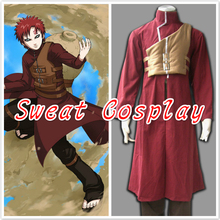 Naruto Shippuden Gaara Red Anime Cosplay Costume