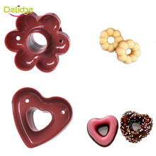 Delidge 1 pc Heart Flower Donuts Mold Food -Grade Plastic Doughnuts Making  Cutter Fondant Cake Bread Desserts Bakery Mould