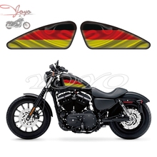 German Flag Graphics Fuel Tank Decals Stickers For Harley Sportster XL 883 1200 X/V/R/N/L/C Iron Forty Eight Seventy Two