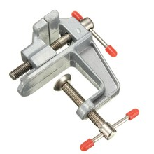 MTGATHER 35mm Aluminum MiniAture Small Jewelers Hobby Clamp On Table Bench Vise Tool Vice Durable Light Weight