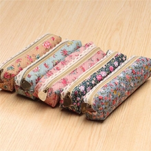 2016 Mini Retro Flower Floral Lace Case,storage bag school supplies Cosmetic Makeup Bag Zipper Pouch Purse, estojo escolar(China)