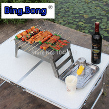 outdoor bbq camping equipment wood stove folding mini gas fire maple cozinha estufa portable charcoal grill Stainl steel cooker