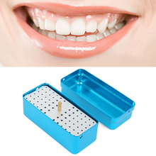 NEW 72 Holes Dental Disinfection Burs Holder Block Stand Autoclavable Sterilizer Box Dentist Lab Equipment(China)