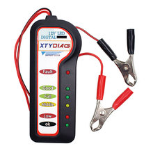 kebidumei Car Battery Tester with 6 LED Lights 12V Car Motorcycle Professional Test Tools Auto Voltage Tester Battery Analyzer(China)