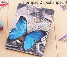 case for apple Ipad4 protective sleeve of ultrathin for ipad2 3 protective sleeve with dormancy leather cover case protection