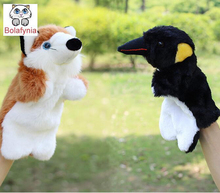 Children Stuffed Toy Fox and the Crow stroy kids doll plush baby Hand  PUPPETS toys Christmas birthday gift