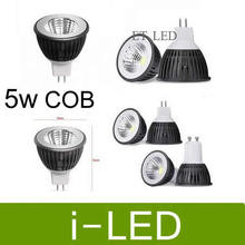 Promotion cob 5w led spotlight gu10 mr16 dimmable led lamp bulb lights e27 warm cole white 12v 110v 220v  60angle UL SAA CE