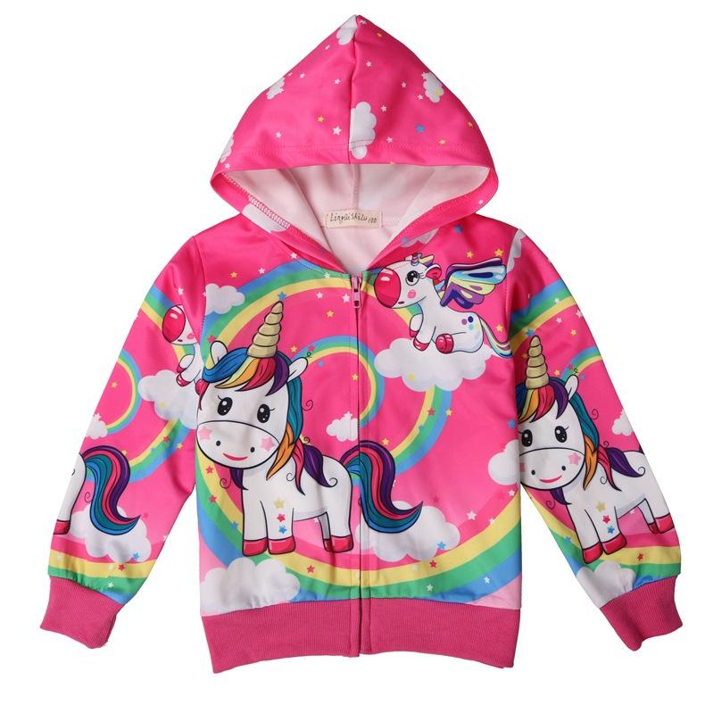 Size 2 3 4 5 6 7 8 9 Years My Little Pony Coat Jacket Girls Childrens Hooded Zipped Cartoon Motif Cute Light Blue Printed
