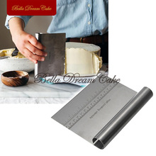 S/S Smoother Cake Scraper Chocolate Baking Mold Set Baking Pastry Moulds Decorating Stencil Cake tool Pizza Dough Scraper CS-15