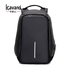 Kavard anti theft backpack Multifunction USB Charge Men 15inch Laptop Backpacks School Bags Mochila Leisure Travel Backpack(China)