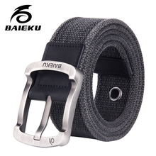 Buy BAIEKU casual fashion men's cotton belt 2018 new unisex style Canvas belt jeans for $12.18 in AliExpress store