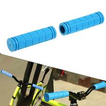 1 Pair Bicycle Handlebar Grips Soft Rubber Cycling BMX MTB Mountain Bike Scooter Fixed Gear Bar End Parts Accessory Tool ALS88(China)