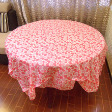 Disposable Table Cloth Wedding Banquet Thickened Red Plaid Double Happiness Table Cloth Tablecloth Round Tablecloth Table Cover